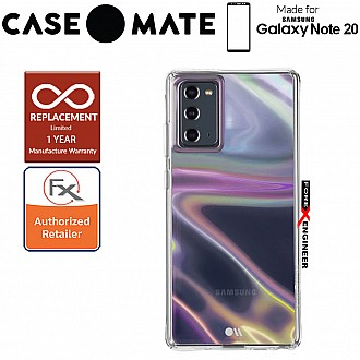 Case Mate Soap Bubble for Samsung Galaxy Note 20 5G - with Micropel antimicrobial protection ( Iridescent ) ( Barcode : 846127195195 )