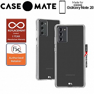 Case Mate Tough Clear Plus for Samsung Galaxy Note 20 5G - with Micropel antimicrobial protection ( Clear ) ( Barcode : 846127195218 )