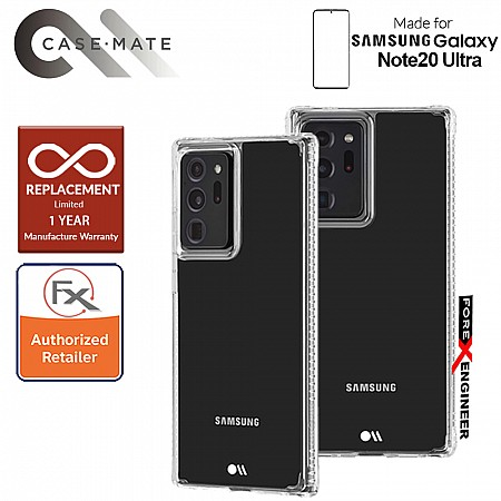 Case Mate Tough Clear Plus for Samsung Galaxy Note 20 Ultra 5G 2020 - with Micropel antimicrobial protection ( Clear ) ( Barcode : 846127195287 )