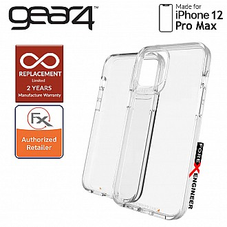 """Gear4 Crystal Palace for iPhone 12 Pro Max 5G 6.7"""" - D3O Material Technology - Drop Resistant Up to 4 meters (Clear) (Barcode : 840056128217 )"""