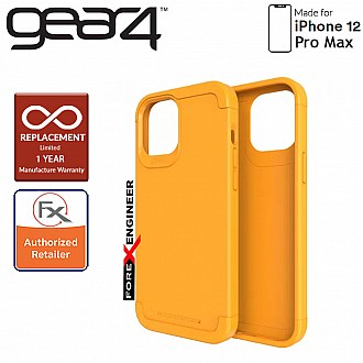 """Gear4 Wembley Palette for iPhone 12 Pro Max 5G 6.7"""" - D3O Material Technology & Drop Resistant Up to 4 meters - Saffron Yellow  (Barcode : 840056129283 )"""