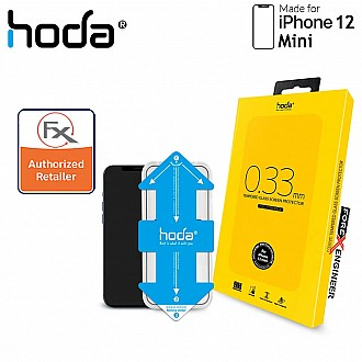 Hoda Tempered Glass for iPhone 12 Mini 5.4 inch - 2.5D 0.33mm Full Coverage Tempered Glass  with Helper - Clear (Barcode : 4713381518991 )