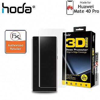 Hoda Tempered Glass for Huawei Mate 40 PRO - 3D UV FULL GLUE 9H Screen Protector (UV Lamp included) - Clear (Barcode: 4713381519417+4713381516256 )