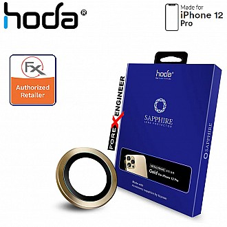 Hoda Sapphire Lens Protector for iPhone 12 Pro - 3 pcs - Gold (Barcode : 4713381519660 )