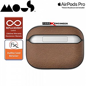 Mous for Airpods Pro Case - Comes with Carabiner Keychain - Brown Leather Colour ( Barcode : 5060624483158 )