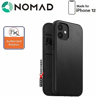 Nomad Rugged Folio Case for iPhone 12 - Black ( Barcode : 856500019116)