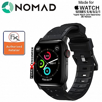 Nomad Rugged Strap Version 2 for Apple Watch 40mm / 38mm Series 5 / 4 / 3 / 2 ( Black ) ( Barcode: 856500018751 )
