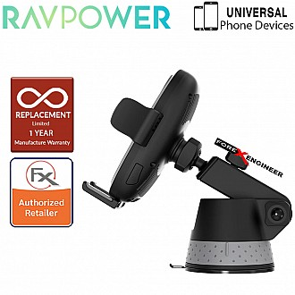 RAVPower Vehicular 10W Wireless Charger - Auto Lock & Release Car Mount with Suction Base - Black ( Barcode : 191280007053 )