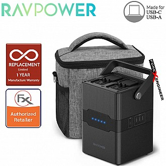RAVPower Portable Charger - PD Pioneer 70200mAh 250W AC Outlets 4-Port Power House - Black Color ( Barcode : 191280013412 )