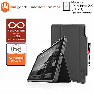 STM Dux Plus Duo  for iPad Pro 12.9 inch ( 2020 ) 4th Gen ( Black ) ( Barcode : 810046111628 )