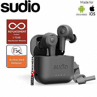 Sudio ETT Wireless Earbuds with  Environmental Noise-Canceling Microphones ( Black ) ( Barcode : 7350071382400 )