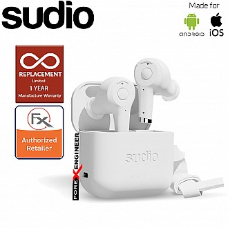 Sudio ETT Wireless Earbuds with  Environmental Noise-Canceling Microphones ( White ) ( Barcode : 7350071382417 )