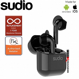 Sudio Nio Wireless Earbuds with  Environmental Noise-Canceling Microphones ( Black ) ( Barcode : 7350071383148 )