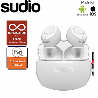 Sudio Tolv R - True Wireless Earbuds and Long Lasting Battery ( White ) ( Barcode : 7350071383513 )