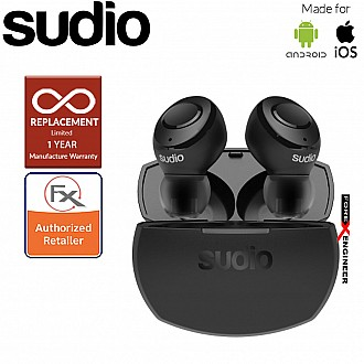 Sudio Tolv R - True Wireless Earbuds and Long Lasting Battery ( Black ) ( Barcode : 7350071383544 )