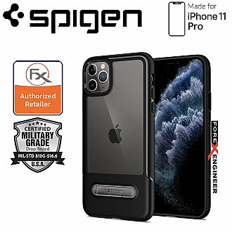 Spigen Slim Armor Essential S for iPhone 11 Pro ( Black ) ( Barcode: 8809671016677 )
