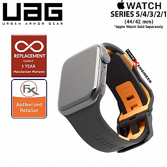 UAG Civilian Strap for Apple Watch 44mm / 42mm Compatible for Series 5 / 4 / 3 / 2 / 1 - Stainless steel hardware ( Black / Orange ) ( Barcode : 812451034325 )