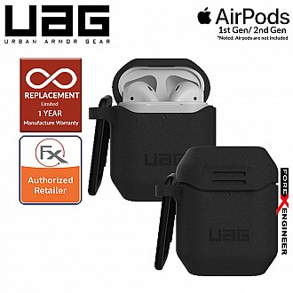 UAG Silicone Case V2 for Airpods 1 and 2  - Black Color (Barcode : 812451035353 )