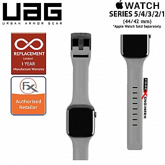 UAG Scout Strap for Apple Watch 44mm / 42mm Compatible for Series SE / 6 / 5 / 4 / 3 / 2 / 1 - Stainless steel hardware ( Silver ) ( Barcode : 812451035896 )