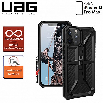 "UAG Monarch for iPhone 12 Pro Max 5G 6.7"" - Rugged Military Drop Tested - ( Carbon Fibre ) ( Barcode : 812451036152 )"