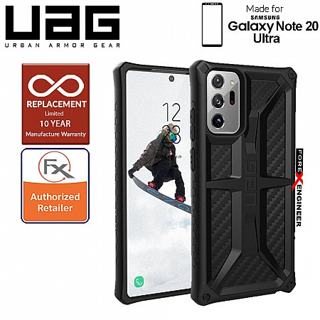 UAG Monarch for Samsung Galaxy Note 20 Ultra 5G 2020 - Rugged Military Drop Tested ( Carbon Fiber ) ( Barcode : 812451036428 )