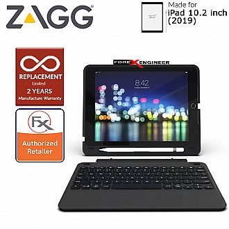 Zagg Keyboard Slim Book Go for iPad 10.2 inch - Ultra Slim Keyboard and Detachable Case ( Barcode : 840056114333 )