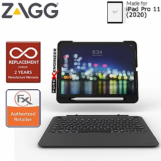 "ZAGG Slim Book Go for iPad Pro 11 inch / 11"" 2nd Gen ( 2020 ) compatible with 1st Gen ( 2018 ) ( Barcode : 848467080537 )"