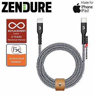 Zendure USB-C to Lightning Cable 100cm SuperCord Kevlar ( Black ) ( Barcode : 857348008805 )
