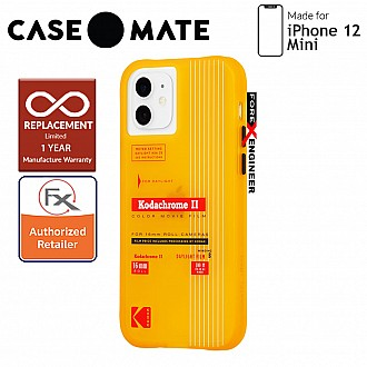 """Case Mate KODAK with MicroPel for iPhone 12 Mini 5G 5.4"""" - Vintage Yellow (Barcode: 840171700466 )"""