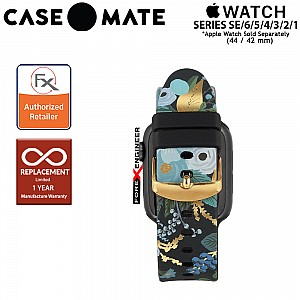 Case Mate Rifle Paper Watch Band for Apple Watch Series SE / 6 / 4 / 3 / 2 / 1  ( 44mm / 42mm ) - Garden Party Blue ( Barcode : 840171701111 )
