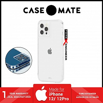 """Case Mate Tough Clear for iPhone 12 / 12 Pro 5G 6.1"""" - Clear with Micropel ( Barcode : 846127196161 )"""