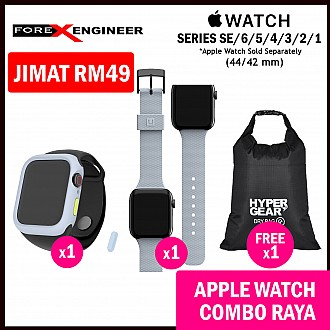 COMBO RAYA Hoda Rough Case + UAG [U] Dot Silicone Strap for Apple Watch Series SE / 6 / 5 / 4 / 3 / 2 / 1 ( 42mm / 44mm )