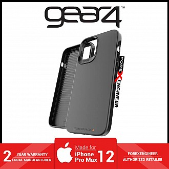 """Gear4 Holborn Slim for iPhone 12 Pro Max 5G 6.7"""" - D30 Material Technology - Black ( Barcode : 840056128279 )"""
