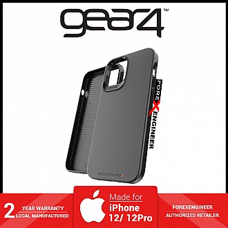 """Gear4 Holborn Slim for iPhone 12 / 12 Pro 5G 6.1"""" - D30 Material Technology - Black ( Barcode : 840056128057 )"""