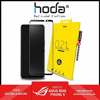 Hoda Tempered Glass for ASUS Rog Phone 5 / 5 Pro / 5 Ultimate ( 0.21mm ) - Evolution Strenghened Edge Full Coverage - Clear ( Barcode : 4711103540602 )