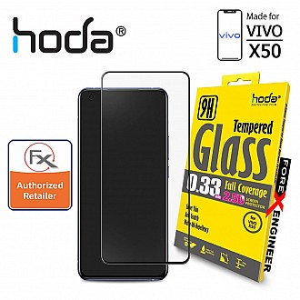 Hoda Tempered Glass for VIVO X50 - 0.33mm 2.5D Full Coverage Screen Protector (Barcode : 4713381517192)