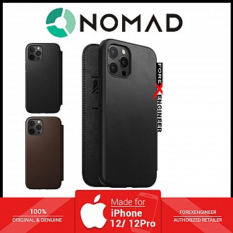 """Nomad Rugged Folio Case for iPhone 12 / 12 Pro 5G 6.1"""" - Magsafe and 5G Compatible - Black ( Barcode : 856500019604 )"""