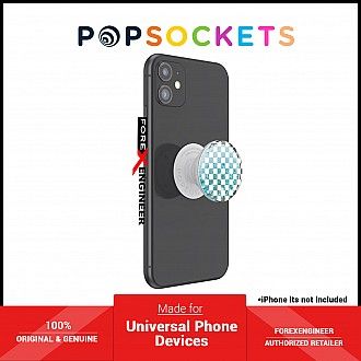 PopSockets PopGrip Swappable Premium - Tidepool Checker White (Barcode: 840173706992 )