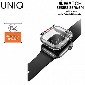 UNIQ Garde Protective Case for Apple Watch for Series SE / 6 / 5 / 4 ( 44mm) - Slim hybrid proctective case with screen protector - Tinted Grey  ( Barcode : 8886463669600  )