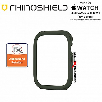 Rhinoshield RIM for Apple Watch 40mm / 38mm Series 6 / SE / 5 / 4 / 3 / 2 / 1 - Use with Rhinoshield CrashGuard NX - Camo Green (Barcode: 4710562401806)