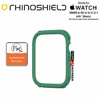 Rhinoshield RIM for Apple Watch 40mm / 38mm Series 6 / SE / 5 / 4 / 3 / 2 / 1 - Use with Rhinoshield CrashGuard NX - Fern Green(Barcode: 4710562401974)