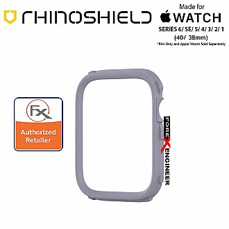 Rhinoshield RIM for Apple Watch 40mm / 38mm Series 6 / SE / 5 / 4 / 3 / 2 / 1 - Use with Rhinoshield CrashGuard NX - Lavender (Barcode: 4710562401882)