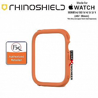 Rhinoshield RIM for Apple Watch 40mm / 38mm Series 6 / SE / 5 / 4 / 3 / 2 / 1 - Use with Rhinoshield CrashGuard NX - Orange (Barcode: 4710562401950)