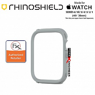 Rhinoshield RIM for Apple Watch 40mm / 38mm Series 6 / SE / 5 / 4 / 3 / 2 / 1 - Use with Rhinoshield CrashGuard NX - Platinum Gray (Barcode: 4710562401738)