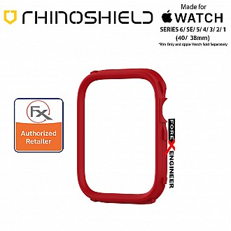 Rhinoshield RIM for Apple Watch 40mm / 38mm Series 6 / SE / 5 / 4 / 3 / 2 / 1 - Use with Rhinoshield CrashGuard NX - Red (Barcode: 4710562401981)