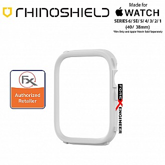 Rhinoshield RIM for Apple Watch 40mm / 38mm Series 6 / SE / 5 / 4 / 3 / 2 / 1 - Use with Rhinoshield CrashGuard NX - White (Barcode: 4710562401943)