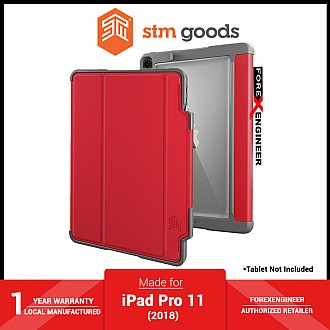 """STM Dux Plus for iPad Pro 11"""" / 11 inch ( 2018 ) - Red ( Barcode : 765951762901 )"""