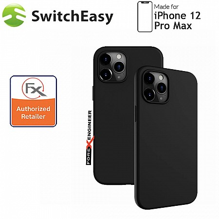 """SwitchEasy Skin for iPhone 12 Pro Max 5G 6.7"""" - Black (Barcode : 4897094567375 )"""