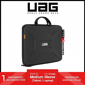 UAG Medium Sleeve for Laptop or Tablet 11 / 13 inch with Handle - Black ( Barcode : 812451038552 )