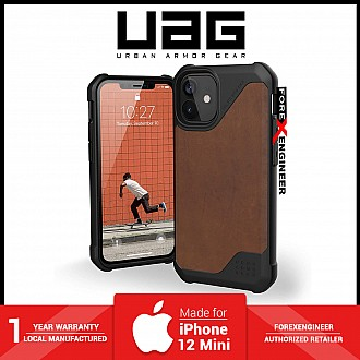 """UAG Metropolis for iPhone 12 Mini 5G 5.4"""" - Feather Light Rugged & Military Drop Tested - Leather Brown ( Barcode : 812451036732 )"""